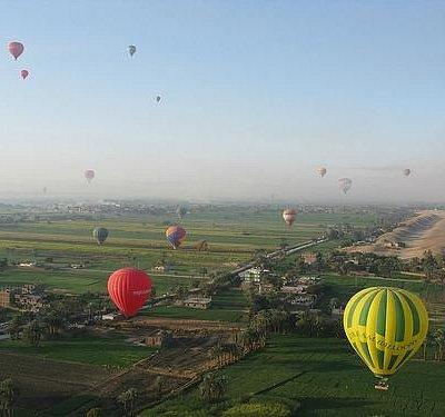 Flying over Luxor
