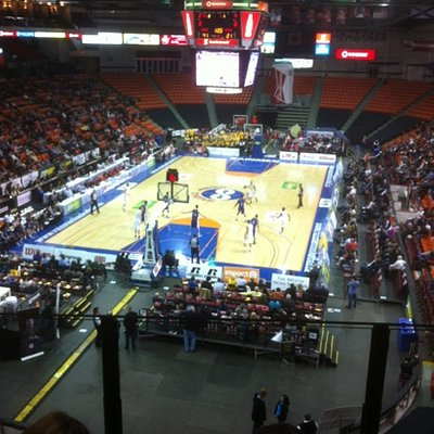 Halifax Metro Centre. View from Executive Skybox Suite.