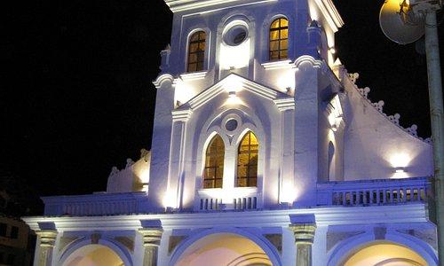 Church at Turi at night