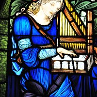 Saint Cecilia by Edward Burne-Jones. Photo courtesy of Martin Cheung.