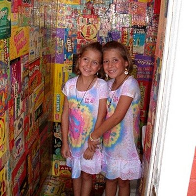Girls in the bathroom of Candy Kitchen.