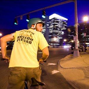 Boston Pedicab At Night