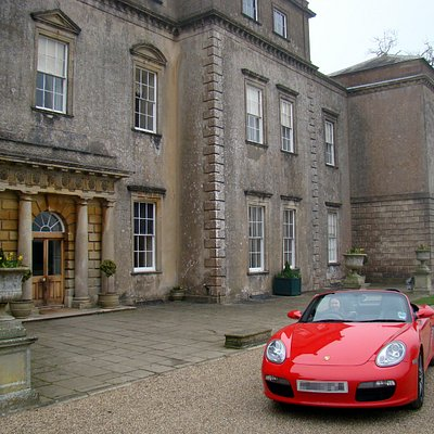 The Drive Southwest Porsche Boxster outside Ston Easton Park manor house.