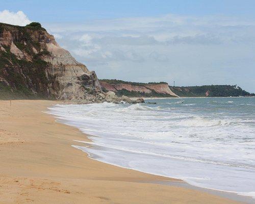 Praia da Pitinga ao fundo, vista do Taípe.