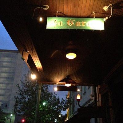 La Carafe at night
