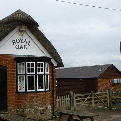 Outside The Royal Oak, Fritham