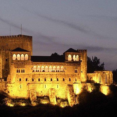 Leiria Castle by nightfall