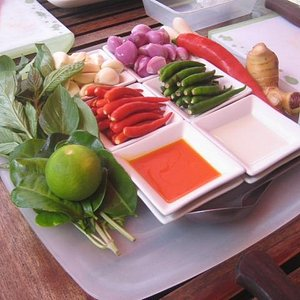 Our red curry paste ingredients