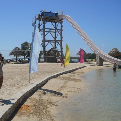 Slide at Cucumber Beach