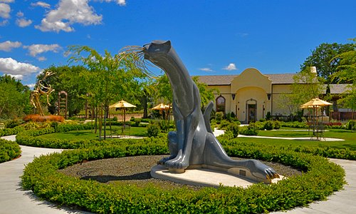 Enjoy our world class sculpture garden with magnificent granite and bronze sculptures.