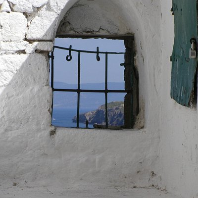Old window with spectacular view