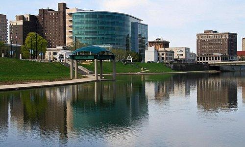 Riverscape MetroPark, BikePath, Great Miami River, Downtown Dayton