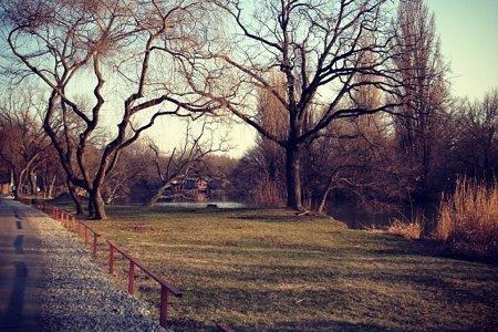 река Кубань, набережная с правой стороны парка