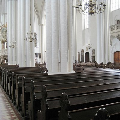 Inside, down the left hand side of church