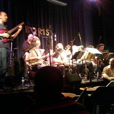 The Boris Big Band on stage.