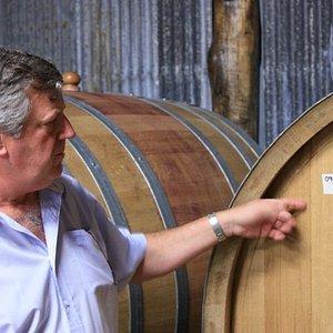 Your 'wine expert' host Richard in cellar