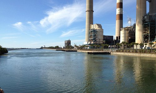 The power plant across the inlet
