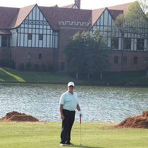 East Lake Clubhouse from the 17th fairway