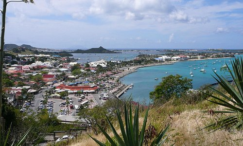 Marigot waterfront view from fort