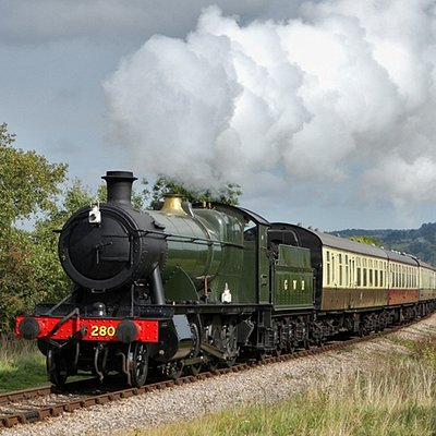 2807 Steam Engine on the GWSR