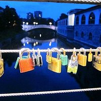 Love locks in the early evening