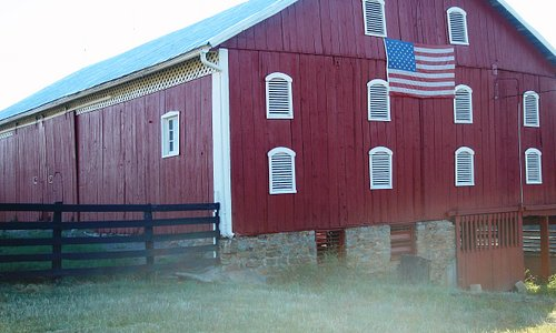 The historic red barn built in 1871 is at the center of the Jeter Farm Fall Festival.