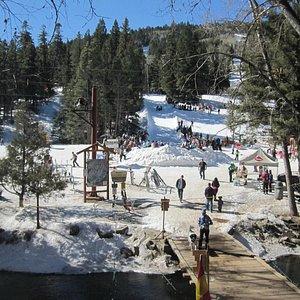 Slopeside action...sunny days at Sipapu Ski Resort