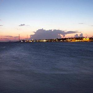 Sunset at White Street Pier