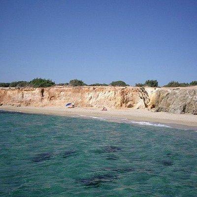 beautiful beach at Alyko of Naxos