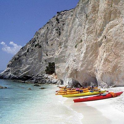 Sea Kayaking Argostoli to Minies day-trip