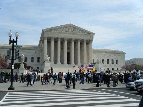 Supreme Court during healthcare debate