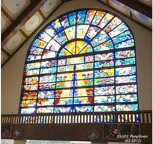 Stained Glass artwork at the Basilica of the Nuestra Senora de Penafrancia