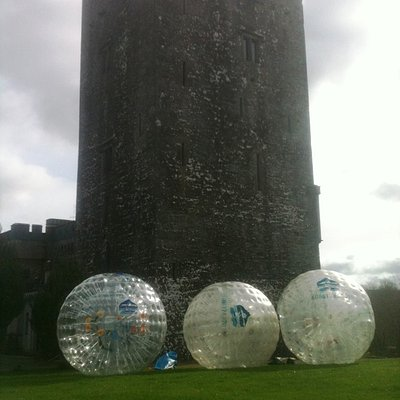 Zorbing at Blackwater Castle Estate