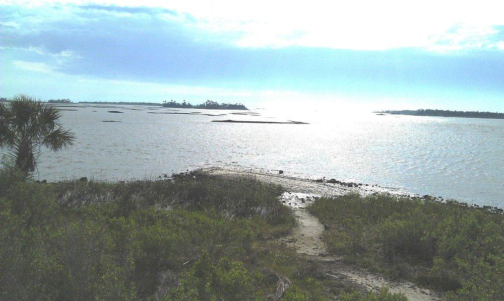 Trail end view.
