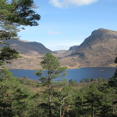 Mountain trail: view over Loch Maree to Slioch