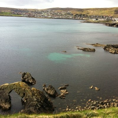 looking over at Lerwick