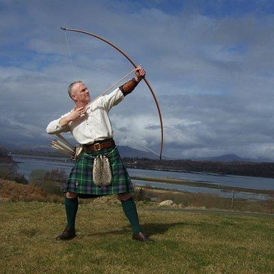 Sean O'Byrne shooting on our archery range at Ardtorna