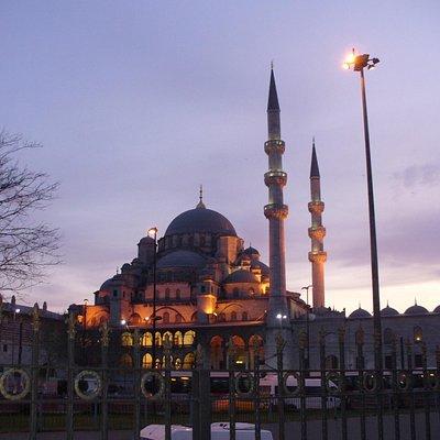 La Moschea Nuova vista con alle spalle il Ponte di Galata