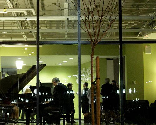 The reception area on opening night for Winter 2012 exibition, Goya