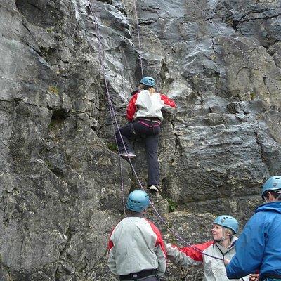 Climbing in Brecon