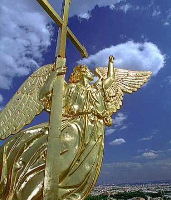 An Angel above Saint-Petersburg. The spire of Peter and Paul Cathedral