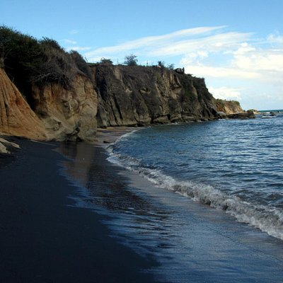 Beautiful Black Sand Beach