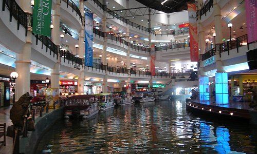 Mines Shopping Centre with boats