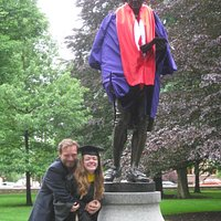 Dr. Benjamin Rush observes graduation.