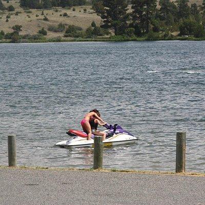 Jet Skiing at Hauser Lake