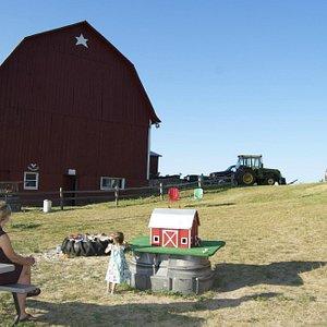 Farm behind the market.