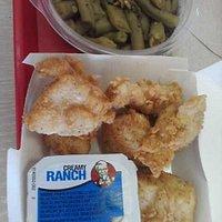KFC Chicken Bites - 6pc and Beans
