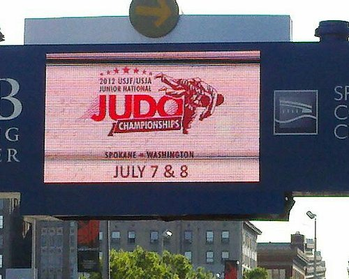 Marquee outside of the convention center