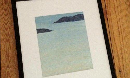 Oil study of Harris Beach by Marigold Newman