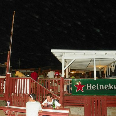 Outrigger's bar and outdoor deck